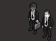 Pulp Fiction comic cinemashup isometric pixel art