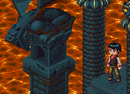 isometric mmorpg Lava dungeon game mockup pixel art пиксель арт
