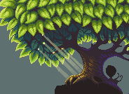 Big oak tree pixel art