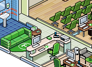 pixel art forex offices illustration commission